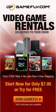 Join the #1 online #video #game rental service and rent unlimited video games delivered to your door! #Free #shipping! No late fees and you can cancel anytime! Sign up for your FREE trial today! One free month of #HuluPlus Join here https://www.gamefly.com/regoffer/start/?adtrackingid=cmju131 Questions? Please come to http://ezswag.com or Like EZ https://www.facebook.com/eezswag and leave the page a private message. Thank you. #ezswag