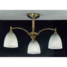 Franklite FL2105/3 Emmy 3 Light Ceiling Light Bronze
