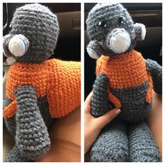 Halo crochet plush. Halo Dadab Unggoy plush hand made by meee, Luna Day!