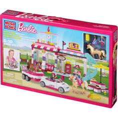 Mega Bloks Barbie Build 'n Play Horse Event Play Set @Mega Bloks