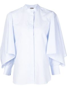 Adam Lippes wide ruffle sleeve shirt