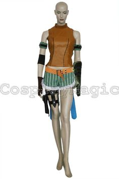 Final Fantasy X 10 Rikku Cosplay Costumes - CosplayMagic.Com