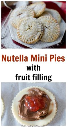 Nutella Mini Pies with Fruit Filling – Perfect for Valentine's Day