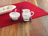 Coming this fall to SMITH's VARIETY! Holiday Cream & Sugar Set | Living | Mud Pie