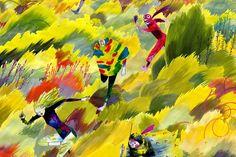 O mundo de Henry McCausland Art And Illustration, Book Illustrations, Heart Art, Surrealism, Watercolor Art, Art Pieces, Scenery, Vibrant, The Incredibles