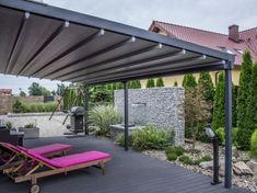 Tarasola na werandzie (50683) Patio Plants, Outdoor Furniture, Outdoor Decor, Sun Lounger, Pergola, Outdoor Structures, Inspiration, Garden, Home Decor