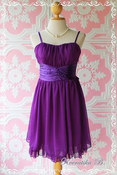 Snow White  Cocktail Majestic Purple Dress by LovelyMelodyClothing, $45.30