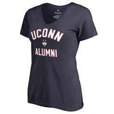 Women's Fanatics Branded Navy UConn Huskies Plus Sizes Team Alumni T-Shirt