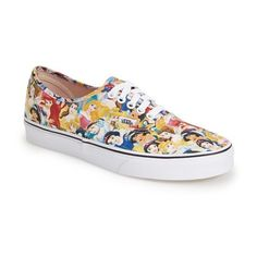 Vans 'Authentic - Disney' Sneaker ($60) ❤ liked on Polyvore featuring shoes, sneakers, lullabies, trainers, vans, multi princess, plimsoll sneaker, vans footwear, canvas lace up sneakers and multicolor shoes