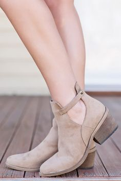 Got What I Want Bootie- Taupe