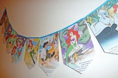 10ft Vintage Disney The Little Mermaid Bunting by LindseyLovesUK, £15.99