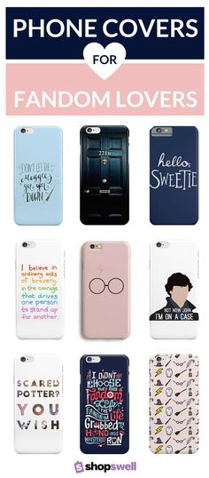 Harry Potter, Dr. Who, Katniss Everdeen, Sherlock Holmes, Tris Prior - these are a few of the names that made our list of epic phone covers. Click-through to find the perfect cover to flaunt your fandom pride!