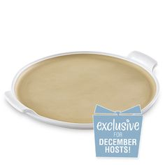 White Large Round Stone with Handles - The Pampered Chef® Contact me now to get yours!! Www.pamperedchef.biz/cyndefoltz