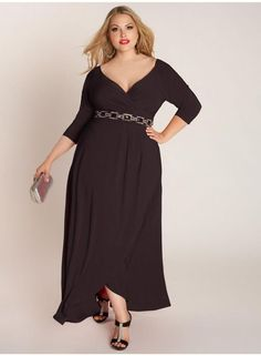 Time for super sophistication and style with this black maxi gown Nadine style from Igigi. Black full length dress with jeweled waistband is size is 22 24 3X. | eBay!