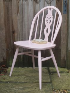 Original Ercol Fleur De Lys Chair In Antoinette By Annie Sloan For A Little S Room Or Y