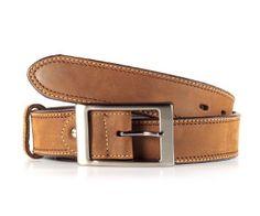 Brown Leather Belt-mens