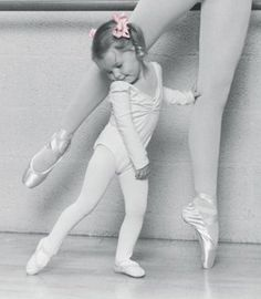 This is what I wish to have when I'm older. And adorable daughter who can share my love of dance. So cute!