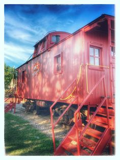 Farmers Branch Texas Historical Park Train Red 902G