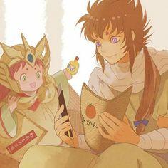 Raki e Kiki Fanart, Manga, Saints, Religion, Anime, Fandoms, Nerd Geek, Knights, Fictional Characters