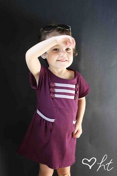 Military bias dress tutorial and DIY pattern. Saluting by ohsohappytogether, via Flickr