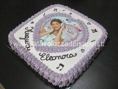 Torta di Panna con cialda di Violetta  http://www.latavolozzadeisapori.it/ricette/torta-di-panna-con-cialda-di-violetta