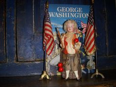 Young George Washington, George Washington Birthday, Antique Dolls, Vintage Dolls, Types Of Candy, Postcard Art, Vintage Candy, Candy Containers, Lets Celebrate