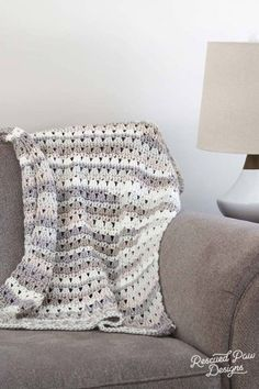 crochet blanket crochet throw on a coach