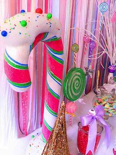 Glittery Christmas Candy Land Sweet Shop Girl Boy Party Planning Ideas