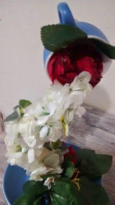 D.I.Y  ARTESANATO EM VIDROS : Cascata de flores na xícara (DIY)