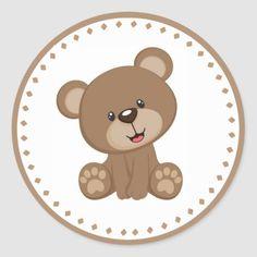 Shop Teddy Bear Birthday Favor Sticker created by Baby_Sweet_Baby. Teddy Bear Cookies, Teddy Bear Party, Teddy Bear Birthday, Teddy Bear Baby Shower, Baby Shower Niño, Teddy Bear Crafts, Teddy Bear Drawing, Teddy Bear Cartoon, Baby Animal Drawings