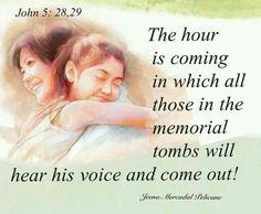 John 5:28, 29. I cannot wait to see you again Al. Soon my love...<3