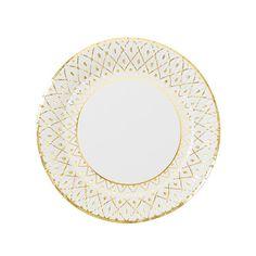 "8 x Rose Gold Glitz 5/"" Canape Paper Plates Stars Ladies Birthday Party Tableware"