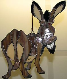 Stained Glass donkey