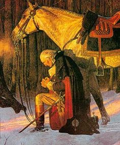 "George Washington our ""Father"" praying - now look at us. Republicans cheat the vets and Obama politely defers. Republicans call vets takers, an entitlement. When the continental congress pulled that, Gen Washington shamed them til they caved. Like Obama had to to get the V.A. funding. While Mitt hasn't got room on his laundry list. They ban Pres Bush from their Tampa convention. No wonder Laura is turning lib, she's been inside the classroom. I favor Laura over Limbaugh and his Bush-hating…"