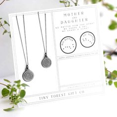 Mother + Daughter Big Dipper & Little Dipper Necklace Mothers necklace | Figs and Ginger