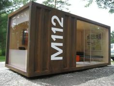 container chic. My next studio gallery space perhaps?