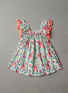 Buy nellystella chloe dress – poppy floral from Thumbeline Kids Party Wear Dresses, Kids Dress Wear, Dresses Kids Girl, Kids Outfits, Baby Girl Frocks, Frocks For Girls, Kids Frocks Design, Baby Frocks Designs, Baby Girl Fashion
