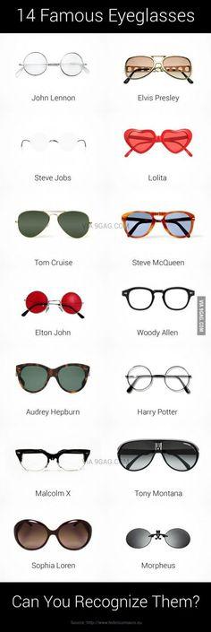 ¿Queréis disfrazaros de alguien conocido? Ahí van unas sugerencias de gafas para completar vuestro disfraz <3 <3