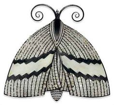 Butterfly wrought iron and rock crystal sconce (wall light fixture) executed by Maison Bagues, Paris 19 in. (48.2 cm.) high, 22 in. (55.8 cm.) wide Armand Rateau circa 1925