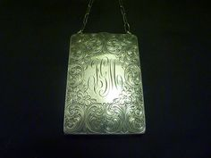 Rare antique sterling silver Art Nouveau compact combination case J G M coin purse cigarette case card case antique powder compacts RARE on Etsy, $321.30