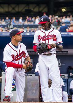 Jace Peterson and Cameron Maybin 2015 Atlanta Braves