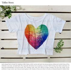 画像: 【SetSale / 10%還元対象】 転写プリント クロップトTシャツ (ハートロゴ柄)