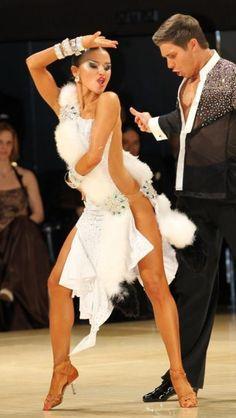 Fur Latin dress