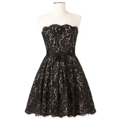 Neiman Marcus Robert Rodriguez women's party dress Gorgeous black lace party dress with nude underlining. Has back zipper and built-in bust support as seen in photo. Offers are welcome :) Neiman Marcus Robert Rodriguez Dresses Strapless Neiman Marcus, Little Black Lace Dress, Lacey Black, Pretty Black, White Lace, Vogue, Hipster, Target Dresses, Kawaii