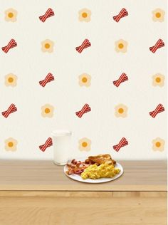 bacon wallpaper- time to redecorate the kitchen!!!bwahaha