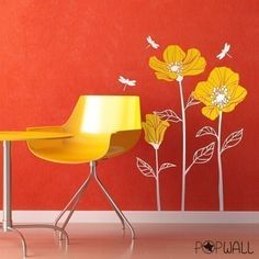FREE SHIPPING   Vinyl wall sticker decal Art  Poppies by NouWall, $49.90