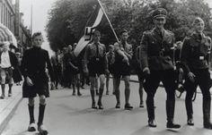 haarlem sportfeest Hitlerjeugd, mars op Julianapark, 27 - 28 juni 1942