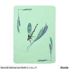 kleurrijk dekentje met libelle babydoek