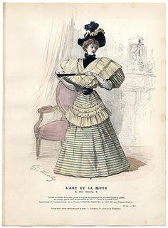 L'Art et la Mode 1894 N°41 Levilly, hand colored fashion plate
