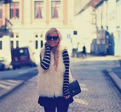 Stripes & cream fur